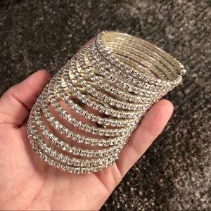 Spiral bracelet sparkle chunky